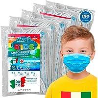 50 Mascherine Chirurgiche per Bambini Certificate CE Tipo II BFE ≥ 98% Prodotte in Italia - Mascherina Italiana monouso…