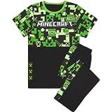 Minecraft Pyjamas Boys Long OR Short Bottom Options Kids Gamer PJs