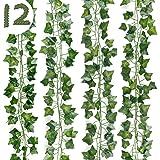 DazSpirit Lierre Plante Artificielle 12 pièces Lierre Guirlande Plantes artificielles 84 Ft Exterieur Lierre Artificielle Gui