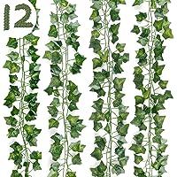 DazSpirit Lierre Plante Artificielle 12 pièces Lierre Guirlande Plantes artificielles 84 Ft Exterieur Lierre…