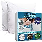 Dreamzie - Lot de 2 Protège Oreiller 60x60 Imperméable - Made in Spain - Coton Respirant Oeko TEX® avec Traitement BiOme : Hy
