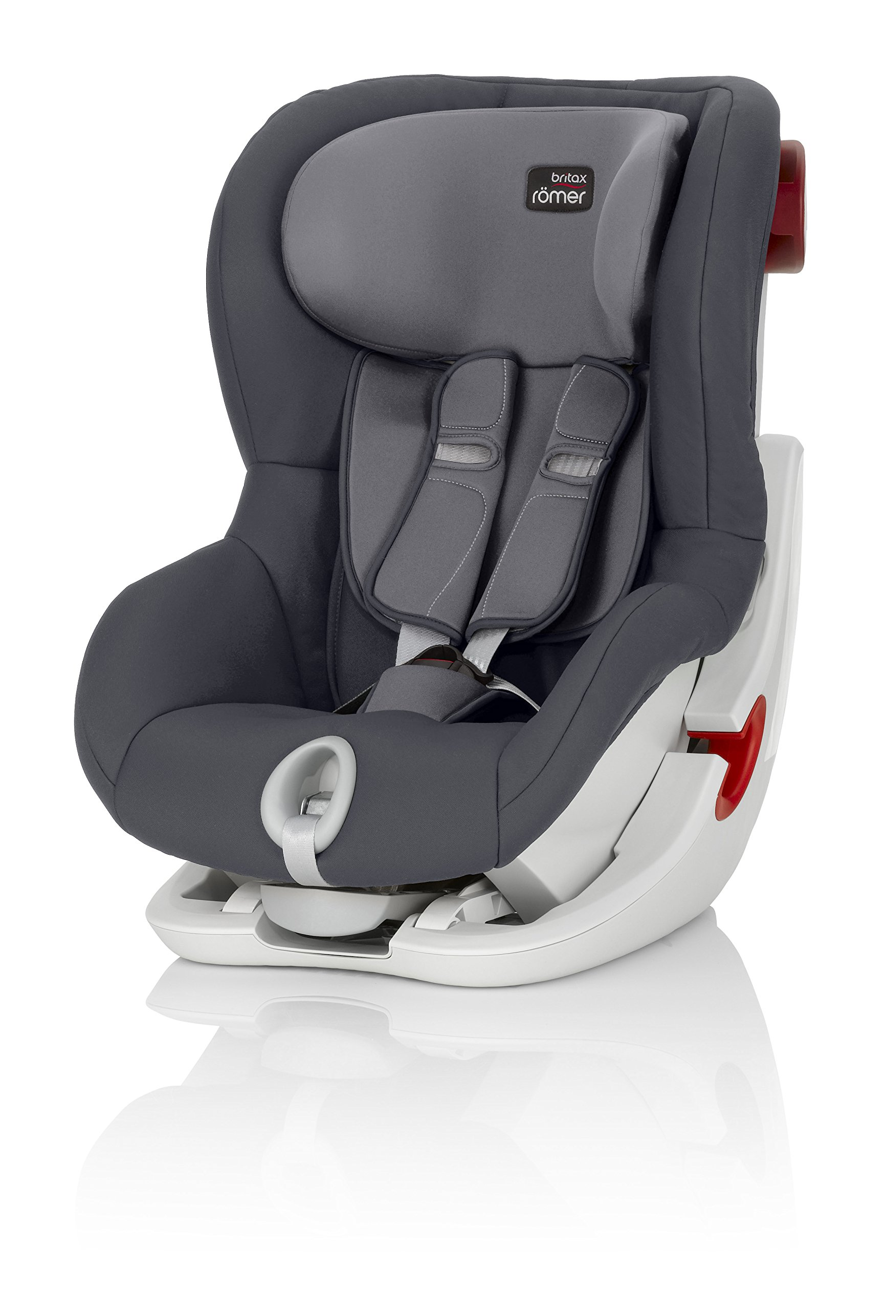 Britax Römer King II Group 1 (9-18kg) Car Seat - Storm Grey  Easy installation - with tilting seat and patented seat belt tensioning system Optimum protection - performance chest pads, deep, padded side wings 1