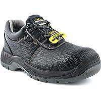 TIESTRA Chaussures De Sécurité Hommes Bottes De Sécurité en Cuir Résistantes et Imperméables S3 SRC, Antidérapante…