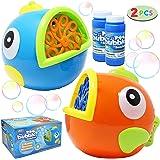 JOYIN 2 Paquete de Máquinas de Burbujas para Niños, Uso de Actividades al Aire Libre / en Interiores, Regalos de Cumpleaños,