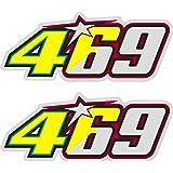 Pegatina Adhesivo Sticker ADESIVO AUFKLEBER Decals Valentino Rossi NIKY Hayden 469 Reflectante 2 Unidades