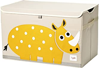 3 Sprouts Toy Chest, Yellow Rhino