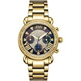 JBW Luxury Women's Victory 16 Diamonds Mother of Pearl Chronograph Watch - JB-6210-B
