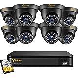 Anlapus 1080P 8CH 2TB H.265+ DVR Enregistreur 8PCS Caméra de Surveillance Extérieure IP66 2,0MP 20 M Vision Nocturne, Détecti
