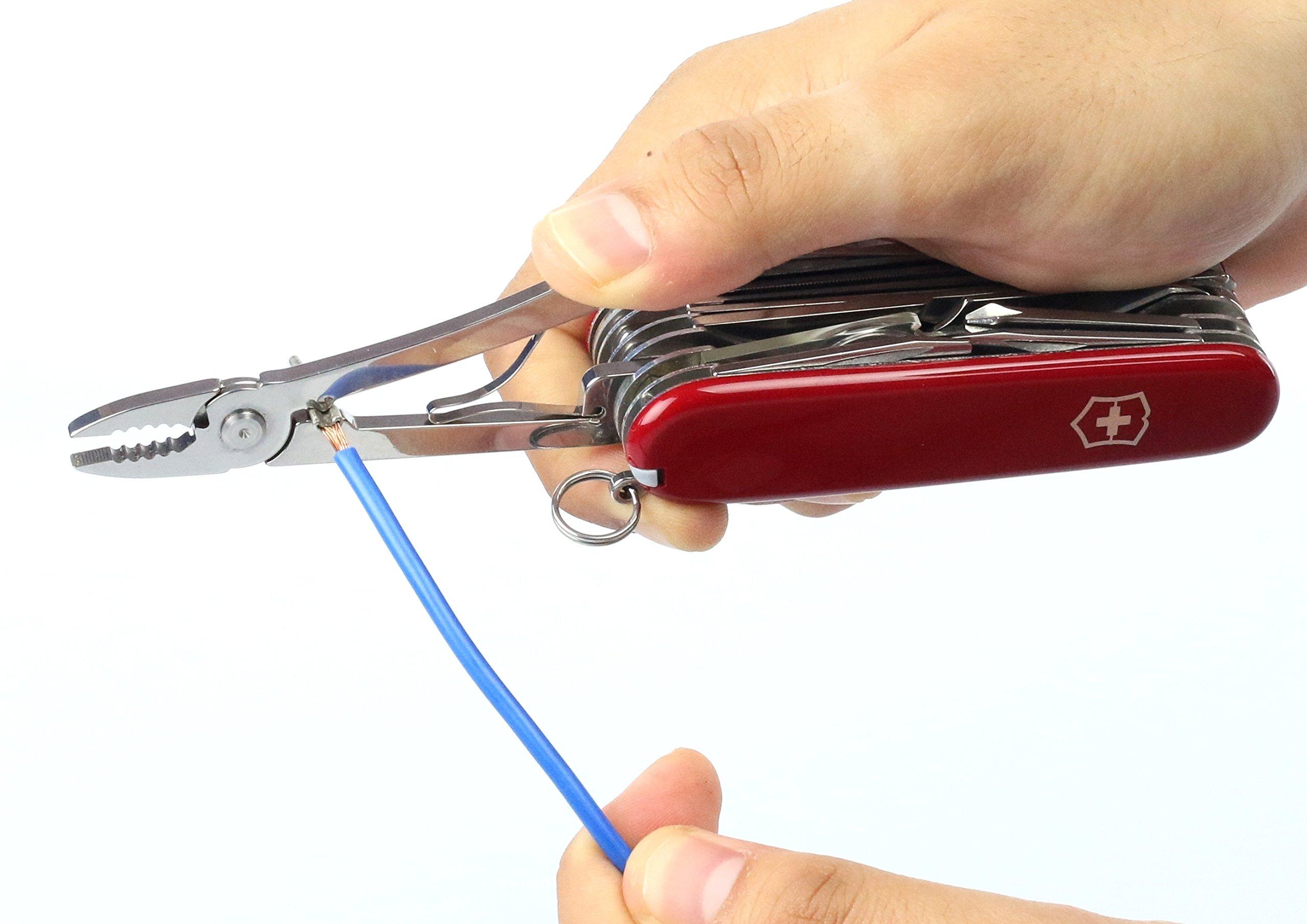 Victorinox Swiss Champ Swiss Army Pocket Knife, Medium, Multi Tool, 33 Functions, Blade, Scissors, Red 35