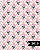 Agenda 2019 Semainier: 19x23cm : Agenda 2019 semainier : crânes avec glace rose 6156
