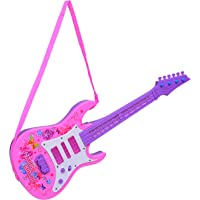 FOREMOST Battery Operated Musical Instrument Guitar Toy for Girl, Pink