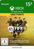 Xbox Live - 15 EUR FIFA 16 Ultimate Team Points [Xbox Live Online Code] [PC Code - Kein DRM]