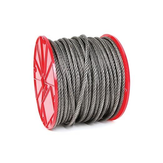 Koch Industries 019372 6 x 19 Wire Rope, Fiber Core 1/2-Inch by ...