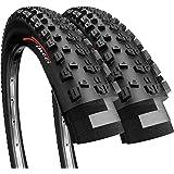 Fincci Par 27,5 x 2,10 Pulgadas 54-584 Plegable Cubiertas para MTB Montaña Fuera del Camino Hibrida Bici Bicicleta (Paquete d