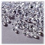 Relaxdays Decoratieve diamanten 3000-delige set, tafeldecoratie bruiloft, decoratieve stenen diamanten, glitter, kunststof, 6