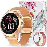 Montre Connectée Femmes, IP68 Montre Intelligente avec Fonction Féminine, Sport Smartwatch avec Moniteur de Sommeil Moniteur
