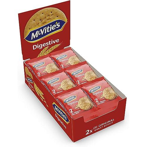 Digestive Mc Vitie'S, Formato Scorta Contenente 24 Confezioni da 4 Biscotti