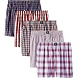 Badger Smith Men's, 5 - Pack Cotton Checks Multicolor Boxer Shorts S Multi