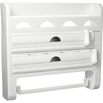 Emsa 2501032600 3-fach-Schneidabroller für Folie und Küchenrolle ...