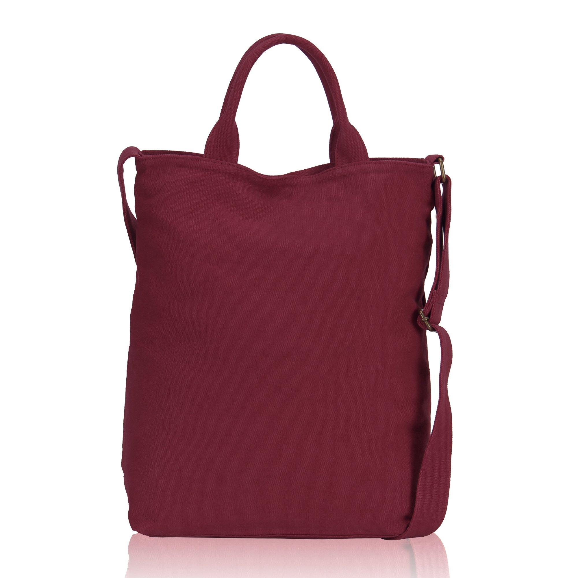 Veevan Borsa Grande da Spalla in Tela Shopping Bag Borsa da spiaggia Borsa a Mano da Donna Rosso