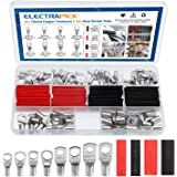 electrapick 60PCS Bolt Hole Tinned Copper Terminals Set-Wire terminals Connector Cable lugs Ring Battery SC Terminals Set Mar