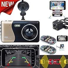 happy event 4 '' LCD IPS Dual Lens Auto Dash Cam FHD 1080 P Armaturenbrett Kamera 170 ° DVR