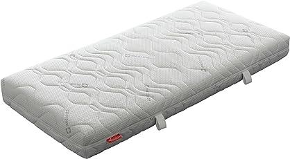 Badenia 03 887 810 159 Bettcomfort Trendline Kaltschaummatratze, mit Noppenauflage, 90 x 200 cm, weiß