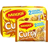 Maggi 2 Minutes Noodles - Curry, 5 x 79g