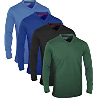 FULL TIME SPORTS® Tech 4-6 Pack FTS-639-650 Assorted Short-Long Sleeve, Casual top T-Shirts with V-Neck