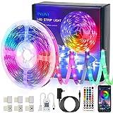 LED Strip 5m, TVLIVE Bluetooth RGB LED Streifen, Farbwechsel LED Lichterkette mit App-steuerung, Fernbedienung, 16 Mio. Farbe
