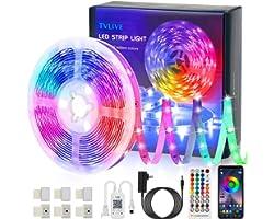 Ruban LED RGB Musique 5M 5050 Bluetooth Bande Led Contrôlé par APP du Smartphone, Synchroniser avec Rythme de Musique, 16 Mil