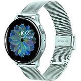 TRUMiRR Compatibel met Galaxy Watch Active 40 mm armband, mesh geweven roestvrij stalen horlogeband metalen armband voor Sams