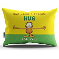 ODDCLICK Gift for Girlfriend One Long Distance Hug for You Printed Polycotton Pillow Cover (Multicolor, 17X24 Inch)