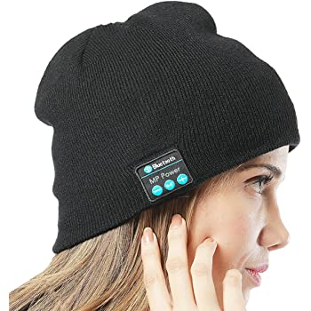 MP power   Bluetooth Music Beanie Hat Cap with Stereo Headphone Earphone  Headset Compatible With Smartphone ef7a2a9e667