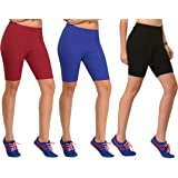 BRAND FLEX Cotton Lycra Cycling Shorts for Girls/Women/Ladies(Colours May Vary)