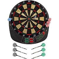 Best Sporting elektronische Dartscheibe Coventry Dartboard mit 12 Dartpfeilen und Ersatzspitzen LED Dartautomat mit…