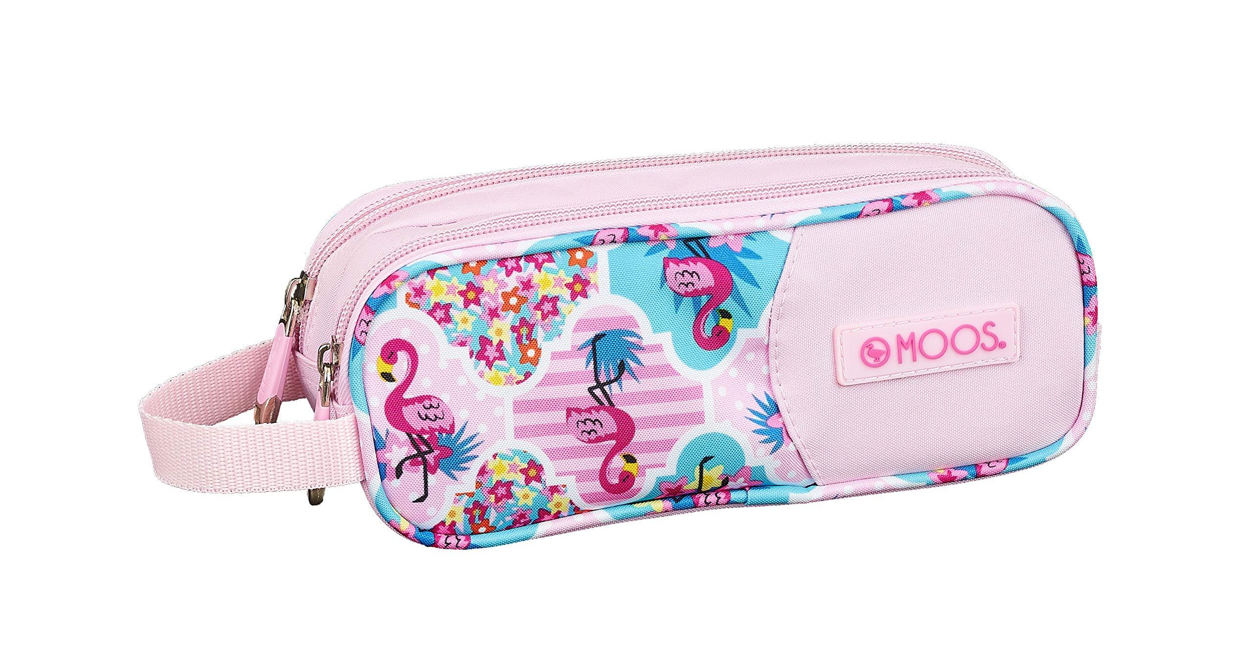 Moos  Flamingo Pink Oficial Estuche Escolar 210x60x80mm