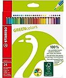 STABILO GREENcolors Umweltfreundlicher Buntstift - 24er Pack - mit 24 verschiedenen Farben
