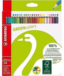 Geldbörse mit 12 Stifte 24 Farben Maped Duo Farbe/' Peps Farbstifte
