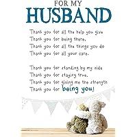 Husband Anniversary Card, Snuggly Bumkins Care, Husband Anniversary, Greetings Card, 159x235mm ZXW7189