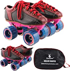 Quad Skate With Hyper Strada Blue Wheel & Pink Frame