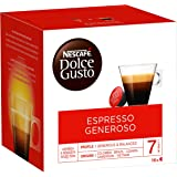 Nescafé Dolce Gusto Espresso Generoso - Café - 96 Capsules (Pack de 6 boîtes x 16)