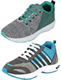 Chevit Men's Combo Pack of 2 Sports Shoes (Running, Gym & Walking Shoes)