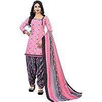 Vashtram Women's Printed Cotton Dress Material