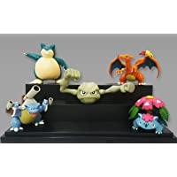 5 Pcs Pokemon Go Action Figure Set 5-7cms with Movable Parts - Charizard, Mega Venusaur, Mega Blastoise, Snorlax…