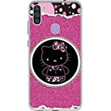 Amazon Brand - Solimo Designer Kitty with Glitter UV Printed Soft Back Case Mobile Cover for Samsung Galaxy M11