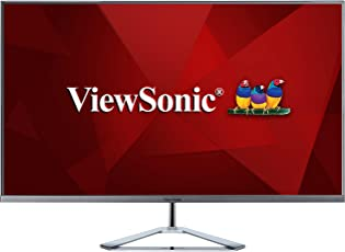 Viewsonic VX3276-2K-MHD 80 cm (32 Zoll) Design Monitor (WQHD, IPS-Panel, 3 ms, HDMI, DP, mDP, Pip, Eye-Care, Multidisplay) Silber-Schwarz