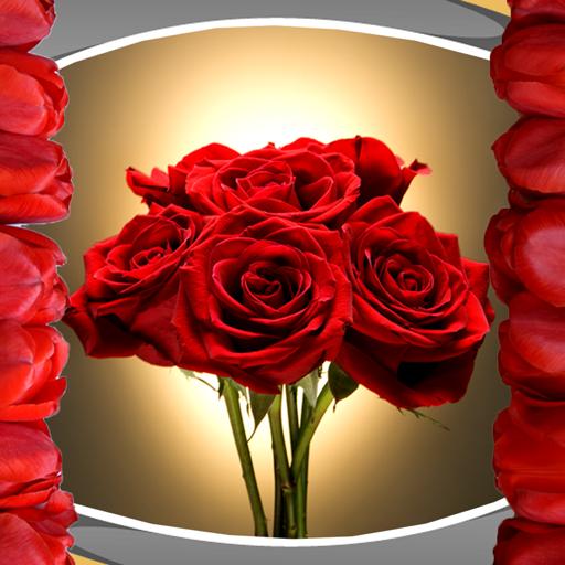 Romantische Foto-Collage (Sonnenblume-grenze)