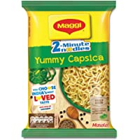 Maggi 2-Minute Instant Noodles, Yummy Capsica Masala Pouch, 60.5g
