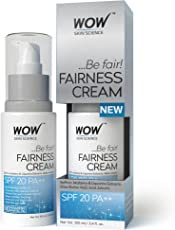 WOW Fairness SPF 20 PA++ No Parabens and Mineral Oil Cream, 100ml